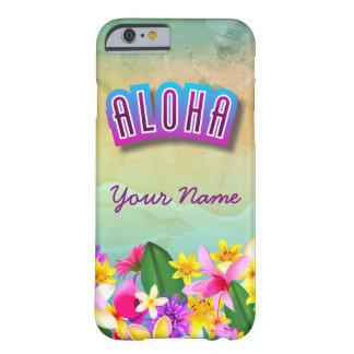 Plage hawaïenne colorée orientée coque iPhone 6 barely there