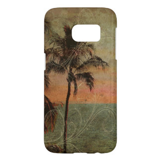 Plage hawaïenne vintage de PixDezines, hapuna Coque Samsung Galaxy S7