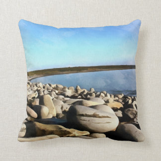 Plage irlandaise coussin