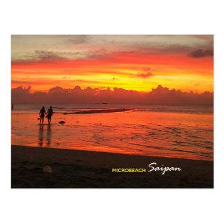 Plage micro, carte postale de Saipan