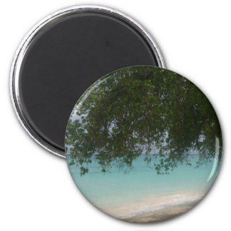 Plage personnalisable des Barbade Magnet Rond 8 Cm