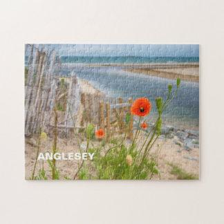 Plage pittoresque de vue d'Anglesey Pays de Galles Puzzle