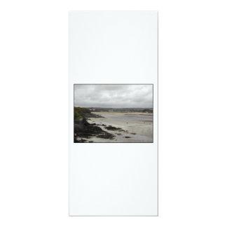 Plage près de baie de Rosscarbery, Irlande Carton D'invitation 10,16 Cm X 23,49 Cm