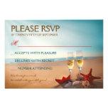 Plage RSVP l'épousant romantique de coucher du sol Faire-parts