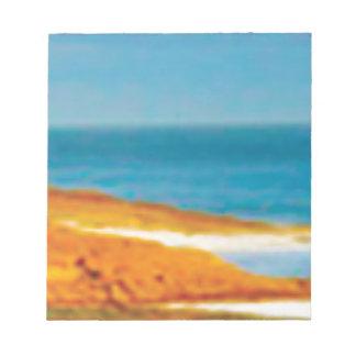 plage sablonneuse de désert bloc-note