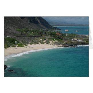Plage sablonneuse, Oahu, Hawaï Cartes