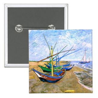 Plage Saintes-Maries (F413) de bateaux de pêche de Pin's Avec Agrafe