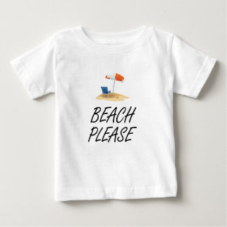 Plage svp t-shirt pour bébé