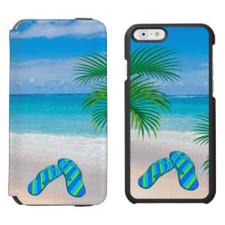 Plage tropicale avec des palmiers et des bascules coque-portefeuille iPhone 6 incipio watson™