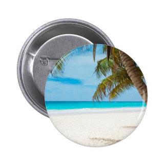 Plage tropicale de paradis badge