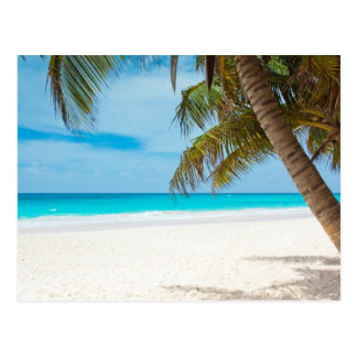 Plage tropicale de paradis carte postale