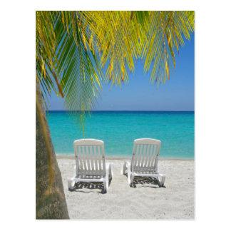 Plage tropicale de paradis dans les Caraïbe Carte Postale