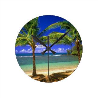 plage tropicale pendules murales