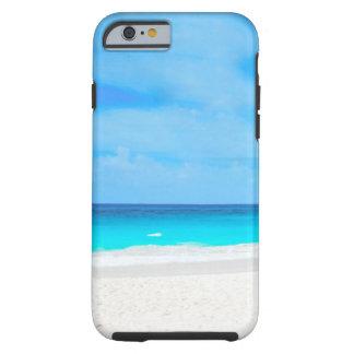 Plage tropicale, l'eau de turquoise coque iPhone 6 tough
