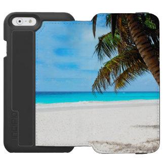 Plage tropicale, l'eau de turquoise coque-portefeuille iPhone 6 incipio watson™