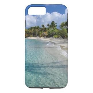 Plage tropicale, l'eau de turquoise, palmiers coque iPhone 7 plus