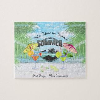 Plage tropicale, vacances d'été | personnalisée puzzle