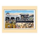 Plage vintage de promenade de course d'obstacles d carte postale