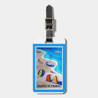 Plages d'étiquette de bagage de la France Étiquette À Bagage