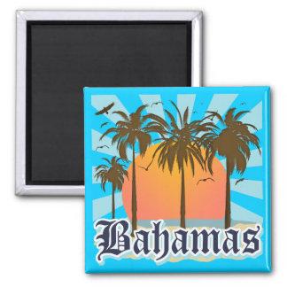 Plages d'îles des Bahamas Magnet Carré