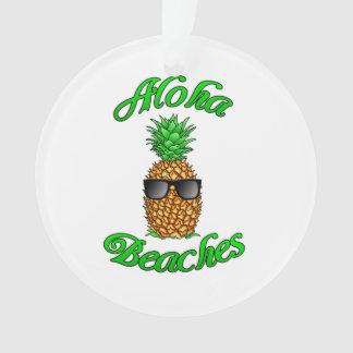 Plages hawaïennes drôles d'ananas Aloha