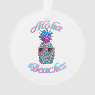 Plages hawaïennes tropicales d'ananas Aloha