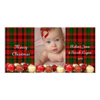 Plaid assez rouge, carte de Noël faite sur