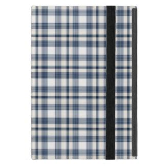 Plaid blanc bleu 1 protection iPad mini