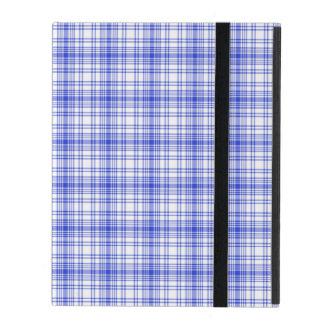 Plaid blanc bleu 2 étui iPad