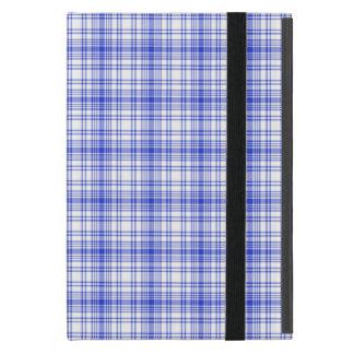Plaid blanc bleu 2 étui iPad mini