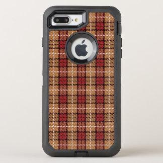 Plaid de pixel en rouge et or coque otterbox defender pour iPhone 7 plus