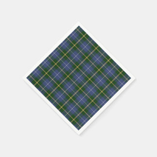 plaid de tartan bleu de la Nouvelle-Écosse de Serviettes Jetables
