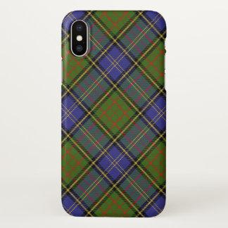 Plaid de tartan écossais de chasse de MacMillan de Coque iPhone X