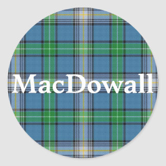 Plaid de tartan écossais de MacDowall de clan Sticker Rond