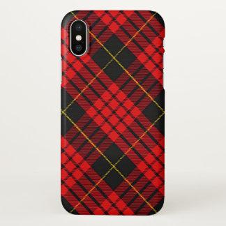 Plaid de tartan écossais de MacQueen de clan Coque iPhone X
