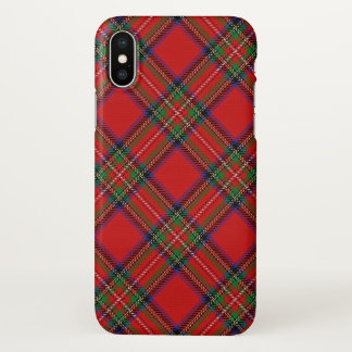 Plaid de tartan écossais de Stewart de clan Coque iPhone X