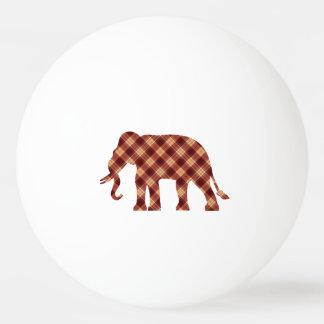 Plaid d'éléphant balle tennis de table