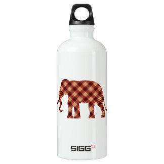 Plaid d'éléphant bouteille d'eau en aluminium