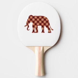 Plaid d'éléphant raquette tennis de table