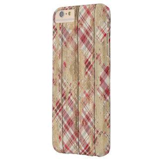 Plaid et bois fanés coque iPhone 6 plus barely there