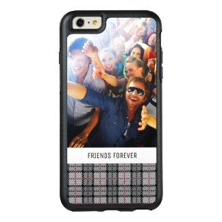 Plaid fait sur commande de pixel de photo et de coque OtterBox iPhone 6 et 6s plus