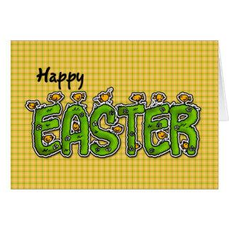 Plaid heureux de poussins de Pâques Carte De Vœux