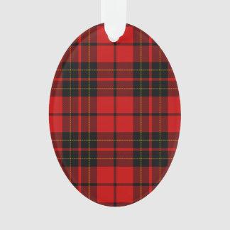 Plaid noir rouge de tartan de clan de Brodie