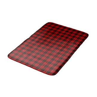 Plaid noir rouge de tartan de clan de Brodie Tapis De Bain