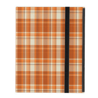 Plaid orange coques iPad