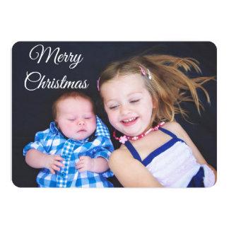 Plaid personnalisé de carte de Noël de photo de