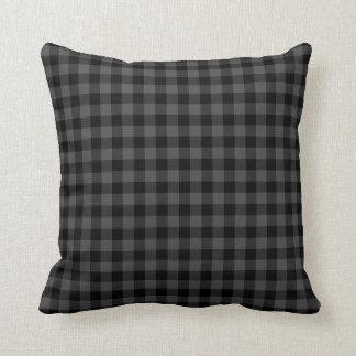plaid noir et blanc coussins. Black Bedroom Furniture Sets. Home Design Ideas