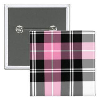 plaid rose badges