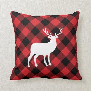 coussins plaid rouge de buffle. Black Bedroom Furniture Sets. Home Design Ideas
