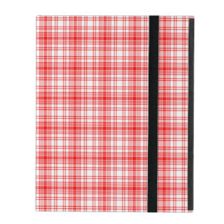 Plaid rouge étuis iPad